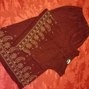 Burgundy 2pc dress